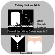 GRÁTIS: Wedding Kit Black and White