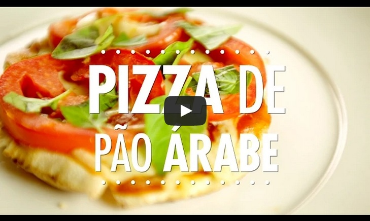 Pizza de pão árabe - receitas - pizza pao arabe blog