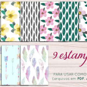 kit casamento diy -  - demo estampas aquareladas 300x300